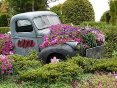 old truck flower bed - Google Search