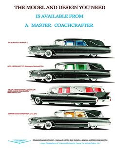 1960 Cadillac Hearse Line Up