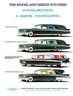 1960 Cadillac Hearse Line Up
