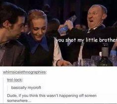 Mycroft and Sherlock Sherlock Jokes, Mycroft Holmes, Sherlock Holmes Bbc, Sherlock Fandom, Watson Sherlock, Benedict Cumberbatch Sherlock, Martin Freeman, The Mentalist, Mrs Hudson