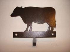 Cow Single Hook by AdirondackMetal on Etsy