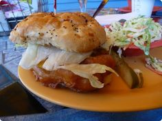 Oh the famous grouper sandwiches at Frenchy's, Clearwater Beach.
