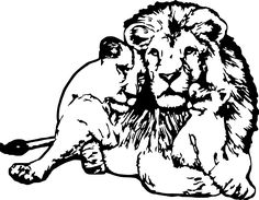 Lion Family Vinyl Sticker Decal