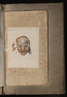 Myologie de la tête. (Ms 28)  Adresse permanente de cette image : http://www.biusante.parisdescartes.fr/histoire/medica/resultats/index.php?p=12&cote=ms00028&do=page  Sagemolen, Marten (dessin). - [Myologie de l'homme: tête, tronc, membre supérieur, membre inférieur]. circa 1660. Adresse permanente vers l'exemplaire numérisé par la BIU Santé (Paris) : http://www.biusante.parisdescartes.fr/histmed/medica/cote?ms00028