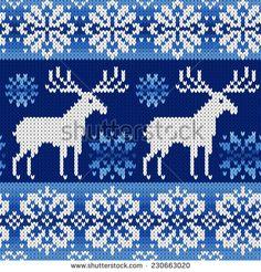 knit snowflake pattern - Google Search