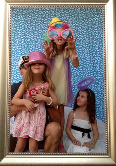 More photo booth fun- vintage theme kids tea party