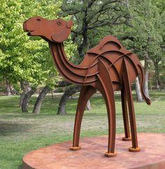 the camel sculpture at Camp Verde | Kerrville TX