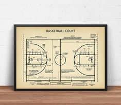 Basketball coach gift basketball decor basketball poster basketball court blueprint art digital download basketball poster printable basketball gifts boys room decor sports wall art nba prints malvernweather Choice Image