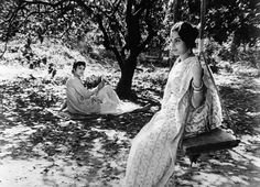 Charulata (The Lonely Wife). Directed by Satyajit Ray Soumitra Chatterjee, Lonely Wife, Satyajit Ray, Yash Raj Films, Legendary Pictures, Ray Film, Indian Aesthetic, Vintage Bollywood, Princess Aesthetic