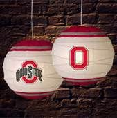 Ohio State Buckeye lanterns
