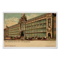 1890s vintage Berlin Victorian department store prints