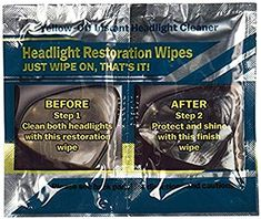 f279f84500bfee Yellow Off Headlight Cleaner 655315010284 1 Pack Yellow-Off Instant  Headlight Cleaner Wipes