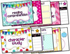 Common Core reading graphic organizers