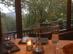 View at sunset, The Gamekeeper Restaurant | Boone, NC