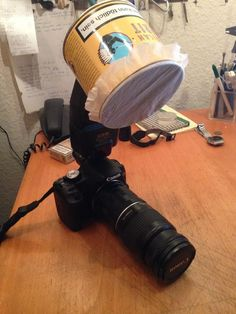 Picture of Cheap Macro-Softbox / Bouncer for external Flash / Speedlight (DSLR)