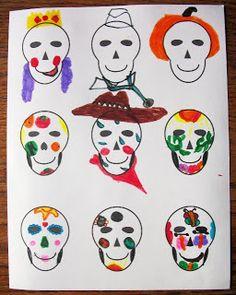 Mommy Maestra: Free Coloring Page for Día de los Muertos.So doi ng this