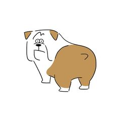 Bulldog #bulldog #dog #buttocks #character #seijimatsumoto #松本誠次 #art #artwork…