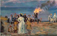 Laurits Tuxen (1853-1927): St. Hansblus på Skagens strand, 1905...... I love this man's work!