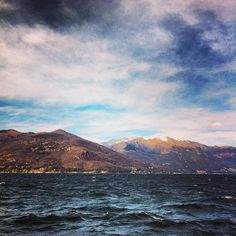 It's really #cold today by the #lake. (presso Luino)
