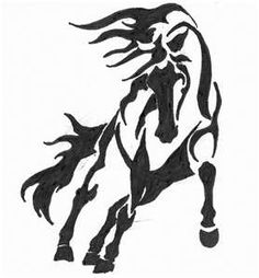 Horse Tattoo-1 by ~DTdahorsey on deviantART -- I am pretty drawn to this.. I know I want to get a tattoo at some point, but design it myself.