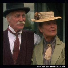 """3/21/14  12:27a  """"Anne of Green Gables""""   & ''Anne of Avonlea""""   Matthew and Marilla Cuthbert  are saying their Goodbyes  to   Anne  Shirley as she leaves Green Gables for her new teaching position.  1985 & 1987 sogaspe.com"""