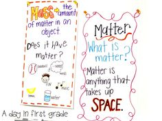 Here's a nice set of anchor charts on matter and mass.