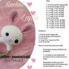 Good Free amigurumi tiernos Ideas Your unveiling connected with the Typical Miffy Amigurumi Crochet Kit and XL Miffy Amigurumi Crochet Kit discovered Sew Crochet Diy, Crochet Amigurumi, Crochet Bunny, Crochet Animals, Hand Crochet, Crochet Hats, Baby Rattle, Baby Kind, Baby Toys