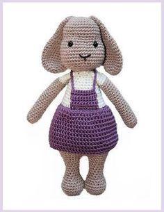 Rita Rabbit Free Crochet Pattern Amigurumi Bunny