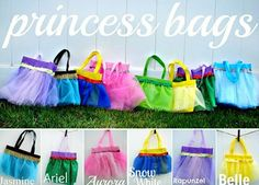 No Sew Princess Bags