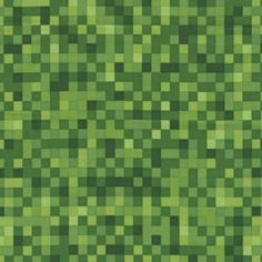 Pixelated Squares Fabric  Green  sold by the 1/2 yard