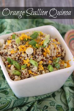 This Orange Scallion Quinoa is a perfectly flavored side dish goes well with fish or even a grilled steak. @SlingMama // gluten free, vegan