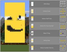Minecraft Banner Designs, Minecraft Banners, Minecraft Blueprints, Minecraft Stuff, Minecraft Houses, Mc Banner, Banner Ideas, Demogorgon Stranger Things, Good To Know