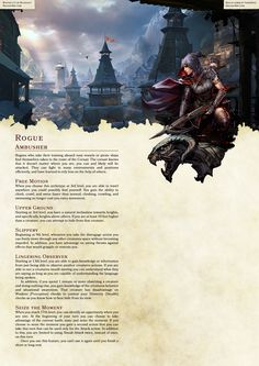 DnD Homebrew Collection — Arilianis Subclasses Part Dungeons And Dragons Rogue, Dungeons And Dragons Classes, Dnd Dragons, Dungeons And Dragons Homebrew, Dungeons And Dragons Characters, Dnd Characters, Myths & Monsters, Dnd Monsters, Rogue Archetypes