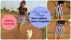 Como costurar shorts com bolso e braguilha Alana Santos Blogger