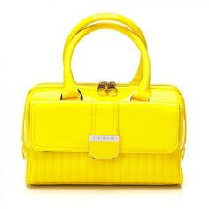 Ted Baker Bag Yellow Marquez Quilted Mini Bowler ($150) ❤ liked on Polyvore