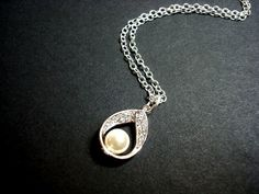Bridal necklace Sterling silver necklace with by treasures570