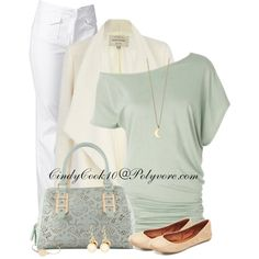 Mint and white, created by cindycook10 on Polyvore