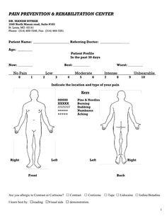outline human frame medical form - Google Search