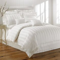 White white white bedding