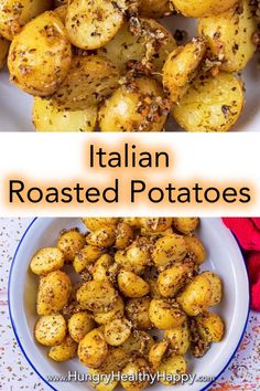 These Parmesan Roasted Potatoes are a simple side dish that has taken the classic roast potato to the next level with some garlic, oregano and parmesan. Plenty of flavour, with a bit of crunch from the parmesan - perfect with chicken or salmon. Side Dishes For Chicken, Best Side Dishes, Healthy Side Dishes, Vegetable Side Dishes, Roast Chicken Sides, Salmon Side Dishes, Italian Side Dishes, Parmesan Roasted Potatoes, Roasted Potato Recipes