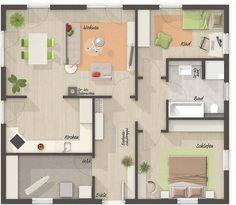 Hauspläne bungalow  Bungalow 112 m² Wohnfläche Individuelle Planung für 2 Personen von ...