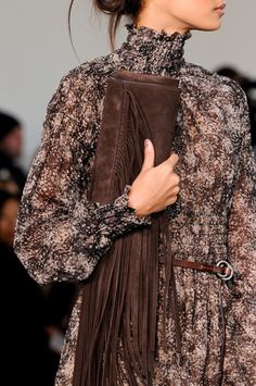 the smocked cuffs are a smart solution for petites - Michael Kors Fall 2014 - Details