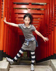 "Harajuku street fashion | So cute!!  〈J.CREW〉のスタイル・ガイド 10月のテーマは「TOKYO・東京」! | MilK ミルクジャポン | photo actually shot in another part of Tokyo ...at  Hie Shrine ( 日枝神社 ""Hie Jinja"" ), Nagatachō ( 永田町 ), Chiyoda ( 千代田区 )"