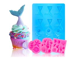 Mermaid Tail Mold Seashell Silicone Candy Cake Molds Under The Sea Party Cake Decoration Making Sugar Craft Chocolate Ice Cube Tray Soap Fondant Molds, Cake Mold, Fondant Cakes, Soft Candy, Candy Cakes, Under The Sea Party, Sugar Craft, Mousse Cake, Cupcake Party