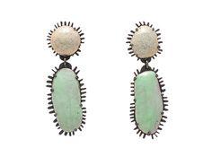 Enamelled earrings Laura Eyles  Oxidised silver, copper, enamel