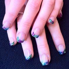 Blue purple nails