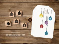 Tiere - Stempelset Weihnachtskugeln (5 Stück) - ein Designerstück von catsonappletrees bei DaWanda
