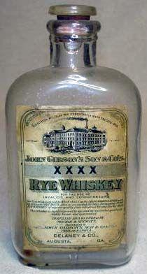 John Gibson's & Son's XXXX Rye Whiskey Augusta Georgia