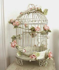 17 jaulas de pájaro inspiradoras para una decoración vintage