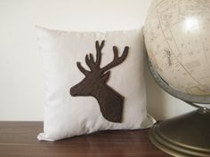 Contemporary Throw Pillows | Contemporary Pillow Deer Throw Cushion Modern